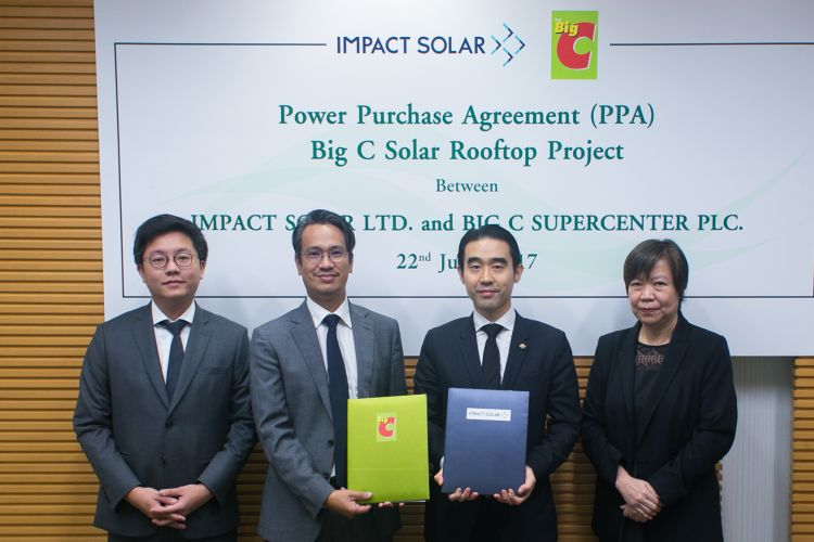 Impact Solar จับมือ Big C ติดตั้งโซล่าร์รูฟท็อปทั่วประเทศรวม 16 MW